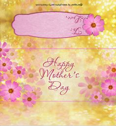 Mother's Day Flowers Candy Bar Wrapper - Free Printable Chocolate Bar Wrapper printable tags for mother's day day printables day printables for preschoolers day printables free day free printable cards Happy Mothers Day Banner, Mothers Day Crafts For Kids, Mother's Day Printables, Free Printable Cards, Candy Bar Labels, Candy Bar Wrappers, Cupcake Wrappers, Mothers Day Chocolates, Mother's Day Gift Card