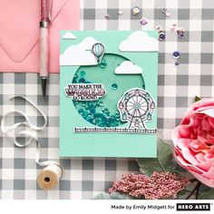 My Monthly Hero: Creativity in a Box July 2018 idea #3 by Emily Midgett. Kit and add-ons available for purchase Monday, July 2.