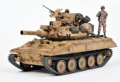 "M-551 ""Sheridan"" Gulf-War. Plastic Model Kits, Plastic Models, Sheridan Tank, Tank Armor, Armored Fighting Vehicle, Military Modelling, Military Diorama, Modern Warfare, Model Ships"
