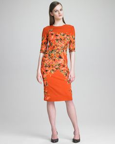 Floral-Print Crepe Dress by Erdem at Neiman Marcus.