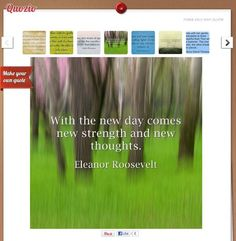 You can easily create a quote from the ready templates in quozio. All you need is type in the content and author. No uploading required