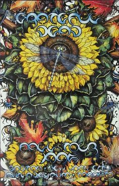 Love This : Michael Everett Grateful Dead Fall 1995 Tour Handbill Tour Posters, Band Posters, Music Posters, Grateful Dead Poster, Grateful Dead Image, Dead Images, Psychedelic Rock, Vintage Rock, Forever Grateful
