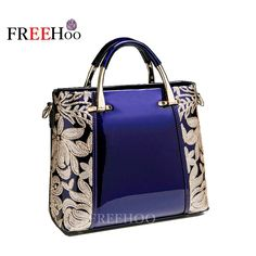 New 2017 Aristocratic luxury Patent Leather Women Messenger  Bags Famous Brand Fashion Female Wedding Party women bags