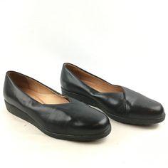 BeautiFeel Women's Black Leather Slip On Loafer Flats Shoes EU 39/ US 8-8.5 #BeautiFeel #LoafersMoccasins