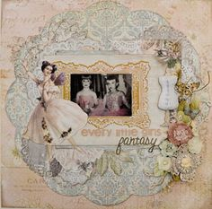 Stunning layout by Tracy Schulz using the Fairy Belle Collection by Jodie Lee for Prima Marketing.