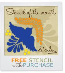 Free Stencil from Royal Design Studio