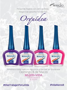 Colección Orquidea #SoyMasglo #Masglo #MasgloLOVERS #ColeccionOrquidea #NailPolish Nail Polish, Nail Art, Drink, Nails, Food, Finger Nails, Red Rose Centerpieces, Nail Art Tutorials, Accent Nails