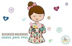 recursos molongos: iconos para RRSS