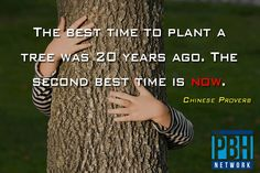 True that!  Get planting - action 'it' today!