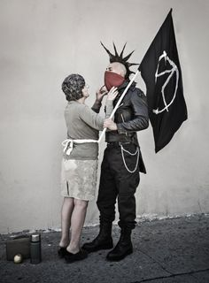 This picture was created by LA based British photographer Nick Stern, who captures the work of the widely recognized street artist Banksy. It is one in a series called 'you are not banksy' Banksy Photo, Estilo Punk Rock, Die Revolution, Arte Punk, Bansky, Foto Real, Punk Outfits, Foto Art, Punk Goth