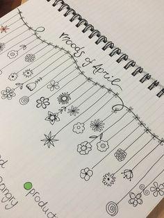 Mood Tracker: Moods of April Bullet Journal