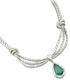 Fabulous emerald and diamond necklace
