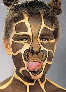 Giraffe - Kindergesichter Schmink- & Partytipps - Party-Discount.de