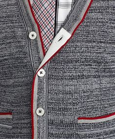 TIPPED V-NECK CARDIGAN - Brooks Brothers