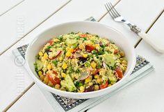 Salata de quinoa cu leurda – reteta video Vegetarian Recipes, Healthy Recipes, Quinoa Salad, Fried Rice, Sweet Recipes, Yummy Treats, Risotto, Potato Salad, Easy Meals