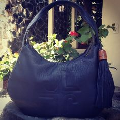 So soft... #blue #leather #wood #handbag #jlang #newcollection #CostaRica #handmade