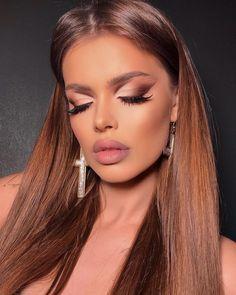 Classy Makeup, Pretty Eye Makeup, Glam Makeup Look, Nude Makeup, Simple Makeup, Makeup Inspo, Beauty Makeup, Makeup Looks, Makeup Ideas