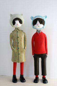 sylvie & brice sculptures by doubleparlour, via Flickr