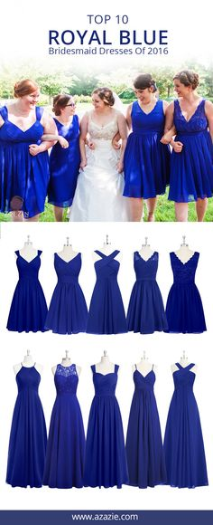 Azazie is the online destination for special occasion dresses. Our online boutique connects bridesmaids and brides with over 400 on-trend styles, where each is available in 50 colors. Royal Blue Bridesmaid Dresses, Bridesmade Dresses, Royal Blue Dresses, Wedding Bridesmaids, Wedding Attire, Homecoming Dresses, Wedding Gowns, Prom, Blue Wedding
