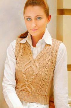 Модно, стильно, женственно! Эффектный вязаный жилет.. Обсуждение на LiveInternet - Российский Сервис Онлайн-Дневников