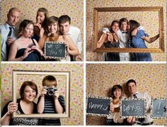 I think this would be a cute idea, all of my guests could take pictures in a photo booth instead of signing a book:)