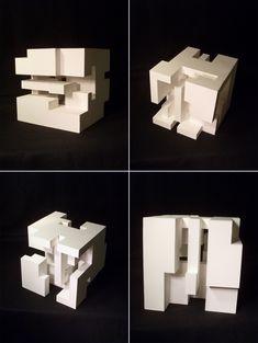 Title : Stereotomic - Design Studio 1 Museum Board 9W x 9L x 9H