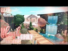 Blush Family Home! w/ lake and mountain landscaping! || Bloxburg Speedbuild || Daisella ❀ - YouTube Family House Plans, Home And Family, Two Story House Design, Tiny House Bedroom, Decor Home Living Room, Roblox Codes, Best Build, Cute House, Dream Rooms
