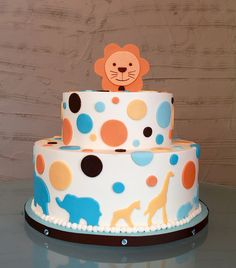 Safari Kid's Cake this would make an adorable cake for a baby shower