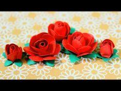 ▶ Como Hacer Flores de Papel: Rosas de Papel *DIY Paper Flowers* Manualidades con Papel Pintura Facil - YouTube