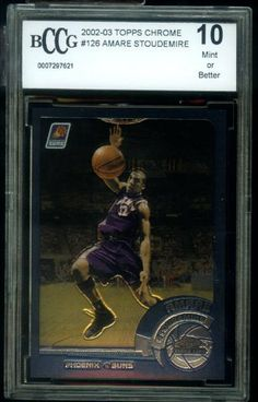 AMARE STOUDEMIRE 2002-03 Topps Chrome Rookie BCCG 10 by Topps. $12.95. Mint Graded Rookie Card! One of Amare's best cards on the market!