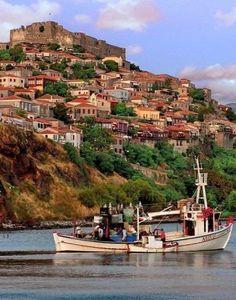 Molivos village ~ Lesvos Island, Greece | Flickr - Photo by Dimitil