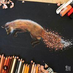 Disegno di volpe