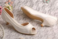 SALE Custom handmade ivory Lace Bridal wedding by TheCrystalShoeCo
