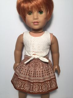 Fits 18 inch dolls such as American Girl by QTpiedollclothing