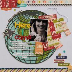 Look Out World Layout By Diane Payne via Jillibean Soup Blog