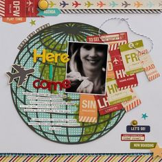 #papercraft #scrapbook #layout. Look Out World Layout By Diane Payne via Jillibean Soup Blog