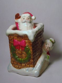 Vintage Animated Santa Mrs Claus Chimney by BrilbunnySelections, $40.00
