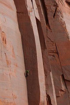 Adam Brink climbing at Indian Creek, Utah
