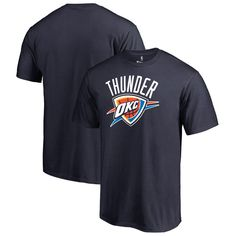 Oklahoma City Thunder Fanatics Branded Big & Tall Primary Logo T-Shirt -  Navy