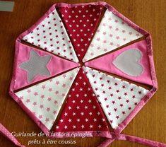 Matériel nécessaire pour réaliser cette guirlande : - tissu coton léger : 20 cm x 140 cm (la plupart des tissu sont vendus en 140 ou 150...