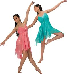 15535 Catching Fire (Peach or Aqua): Ballet Contemporary
