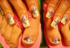 Day 39: Swirls and Dots Fingernails and Toenails - - NAILS Magazine