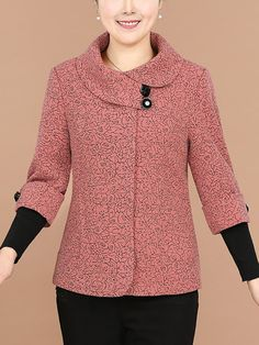 patchwork printed casual date spring winter fashion, Lapel Printed Patchwork Long Sleeve Coat Fashion Now, Boho Fashion, Winter Fashion, Fashion Outfits, Womens Fashion, Chanel Style Jacket, Lace Dress Styles, Mode Hijab, Winter Coats Women