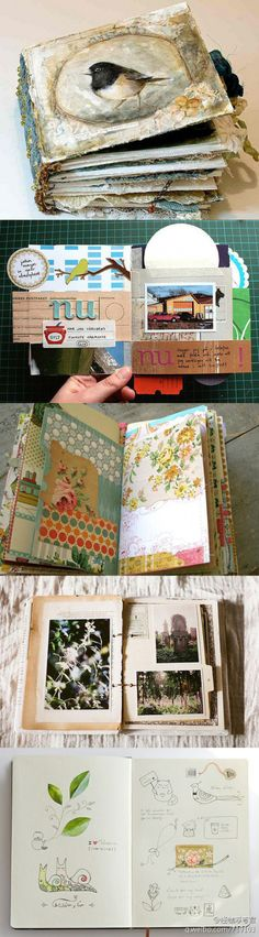 art journal -what a great book! love the cover with the bird