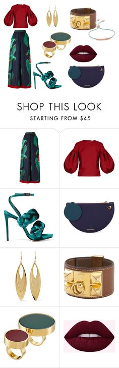 """""""Stylish Chic"""" by lisa-elijah on Polyvore featuring F.R.S For Restless Sleepers, Rosie Assoulin, Marco de Vincenzo, Roksanda, Kenneth Jay Lane, Hermès, Marni and Monica Vinader"""
