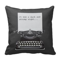 Old Typewriter Pillow.  Gift for writer, student, English teacher, novelist, or avid reader.
