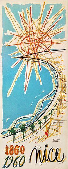 Raymond Moretti - 1860-1960 Nice, Centenaire du Rattachement, 1960s