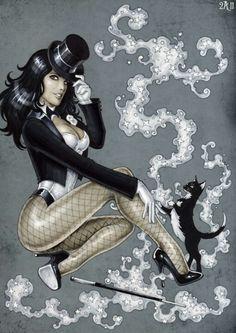 Magician pin up Comic Book Characters, Comic Character, Comic Books Art, Female Characters, Comic Art, Zatanna Dc Comics, Dc Batgirl, Arte Dc Comics, Personnage Dc Comics