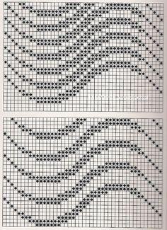 Fair Isle Knitting Patterns, Knitting Stiches, Knitting Charts, Weaving Patterns, Mosaic Patterns, Crochet Patterns, Crochet Lace Edging, Filet Crochet, Crochet Doilies
