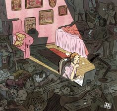 15+ Illustrations That Depict A Surreal Visualization Of Painfully Familiar Situations